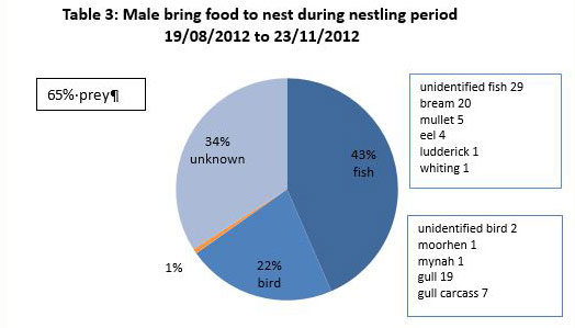 Graph of male food